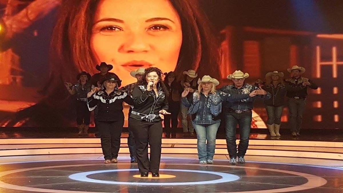 Texas Valtz a Canale Italia Mery Rinaldi Italian Country Family Country Live TV tiziana Tozzola