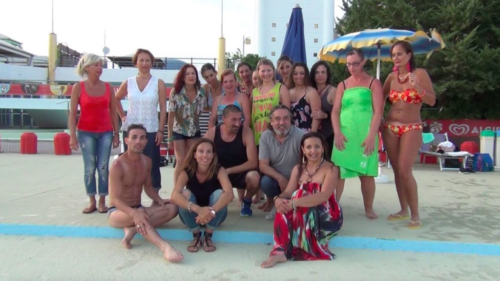 Palmas ballo di gruppo backstage video Atlantica Zumba con Omar Ravaioli