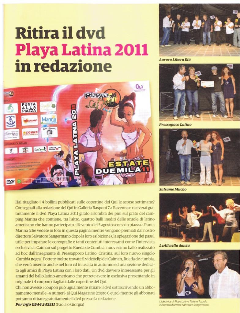 Playa Latina 2011 Festa a punta Marina sul Qui Magazine Tiziana Tozzola