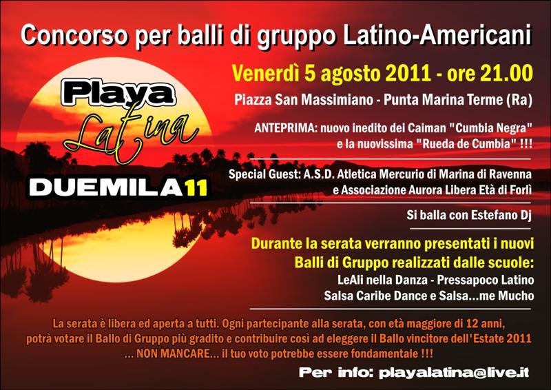 Playa Latina 2011 Tiziana Tozzola volantino