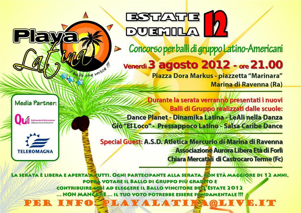Playa Latina 2012 Tiziana Tozzola volantino