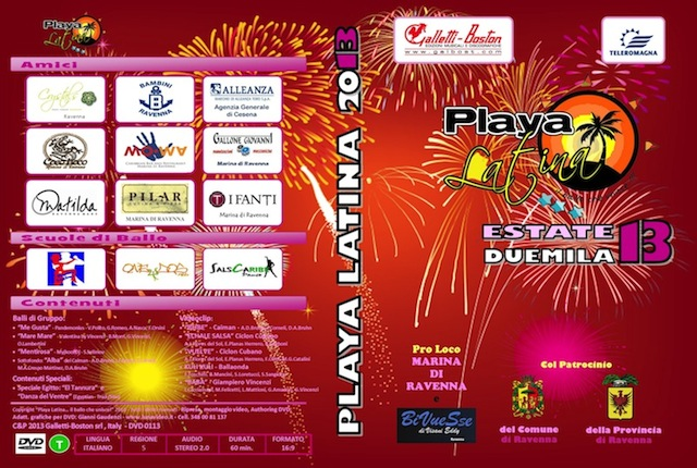 Playa Latina 2013 DVD balli Tiziana Tozzola logo