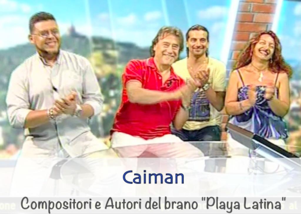 Playa Latina 2014 Tiziana Tozzola la sigla dei Caiman Musica Maestro Telesanterno