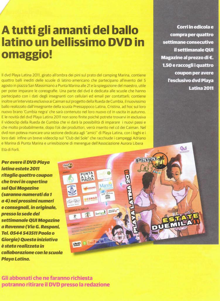 Playa latina 2011 DVD dei balli sul Qui Magazine Tiziana Tozzola