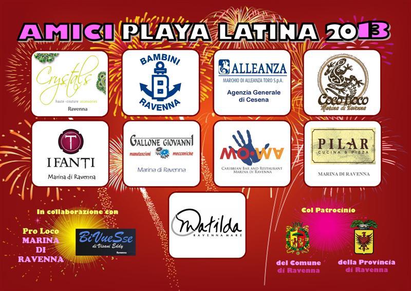 Playa latina 2013 tiziana tozzola volantino 2 logo
