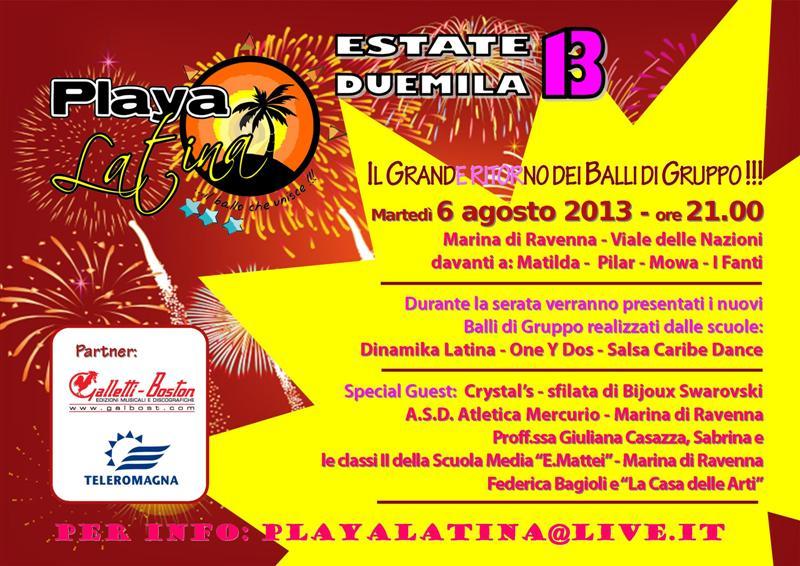 Playa latina 2013 tiziana tozzola volantino logo
