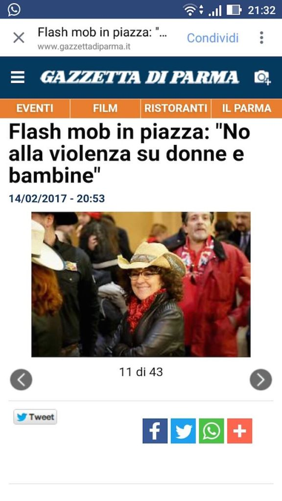 Flash Mob Country 2017 Stefano Civa DUST country live tv tiziana tozzola